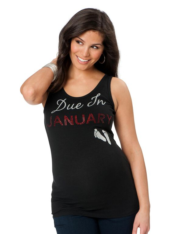 Due In January Maternity Tank Top, 01-january
