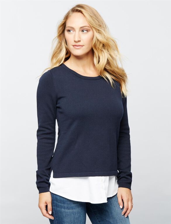 Seraphine Pull Down Nursing Top, Navy