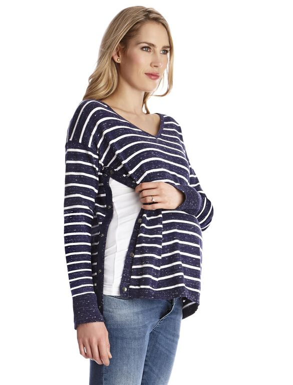 Lift Up Soft Top Nursing Top, Stripe