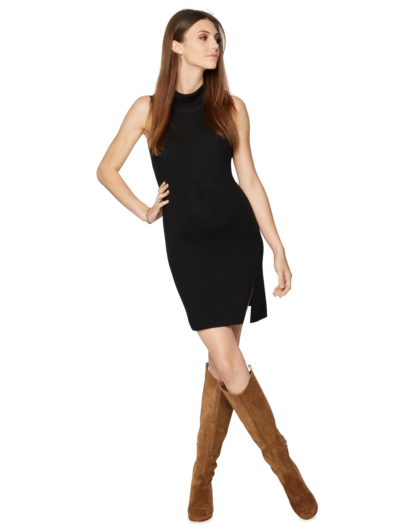 BCBGMAXAZRIA Turtleneck Maternity Dress