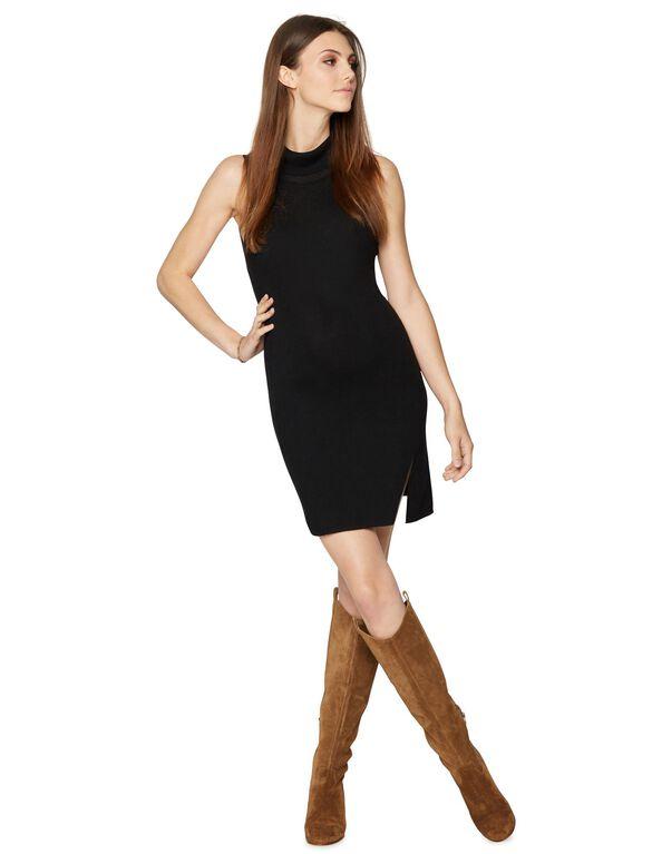 BCBGMAXAZRIA Turtleneck Maternity Dress, Black
