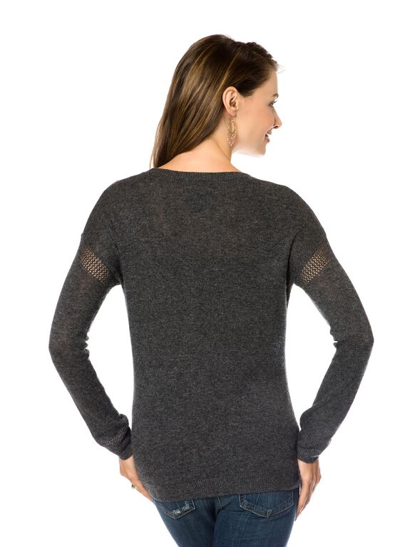 Maternity Sweater, Charcoal