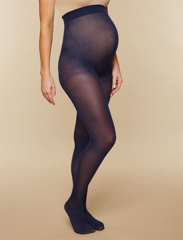 Opaque Maternity Tights- Navy, Navy