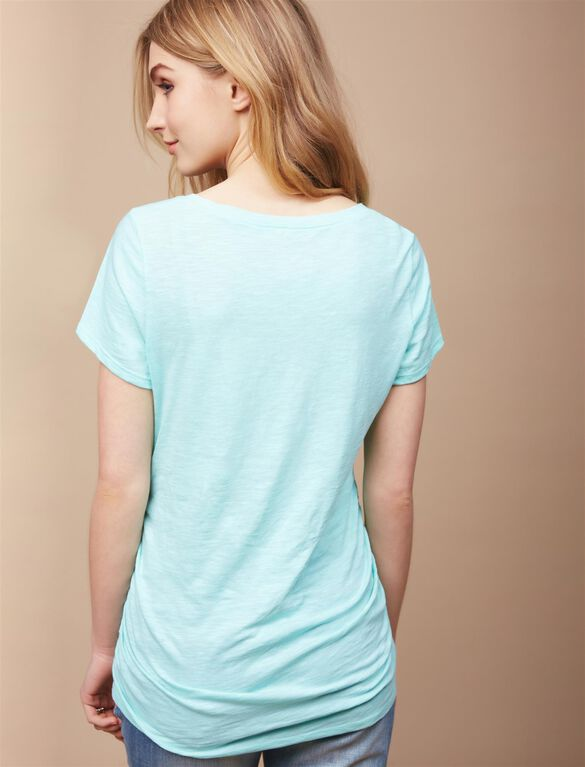 Closer To You Maternity Tee, Aqua