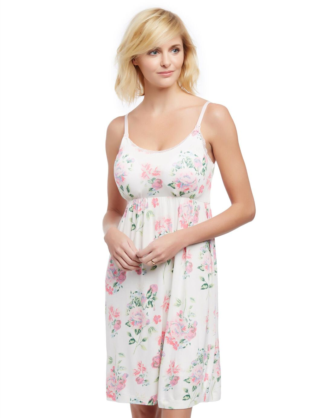 Bump in the night nursing nightgown floral motherhood maternity bump in the night nursing nightgown floral floral ombrellifo Choice Image