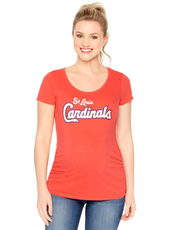 St. Louis Cardinals MLB Short Sleeve Maternity Tee, Cardinals