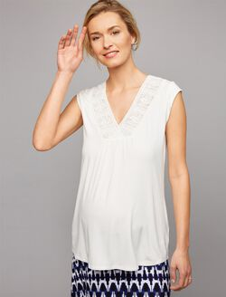 Daniel Rainn Lace Maternity Top, Soft White