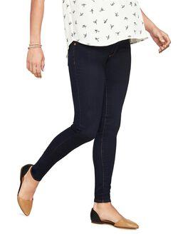 Luxe Essentials Denim Secret Fit Belly Skinny Maternity Jeans- Dark, Dark Wash Rinse
