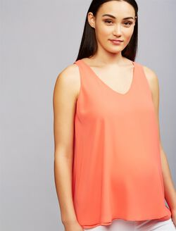 Pietro Brunelli High-low Hem Maternity Blouse, Pink
