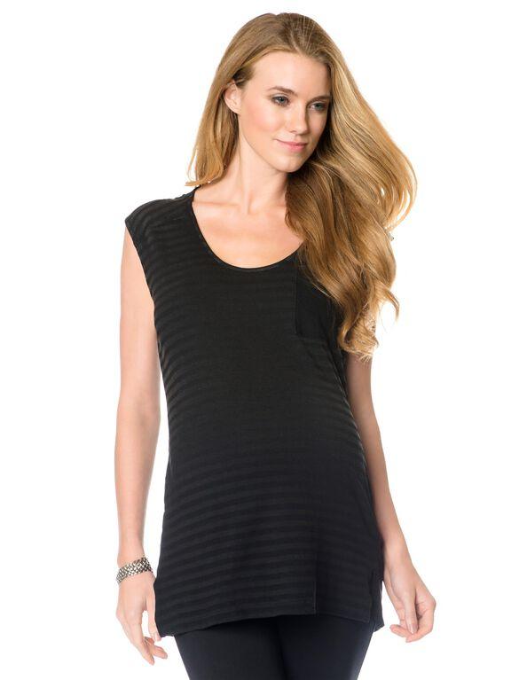 Splendid Maternity T Shirt, Black