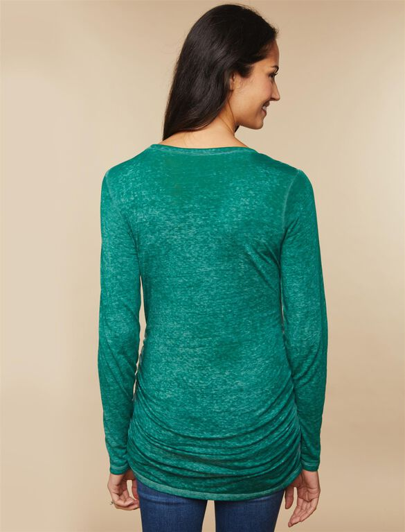 Baby It's Cold Outside Maternity Tee, Green