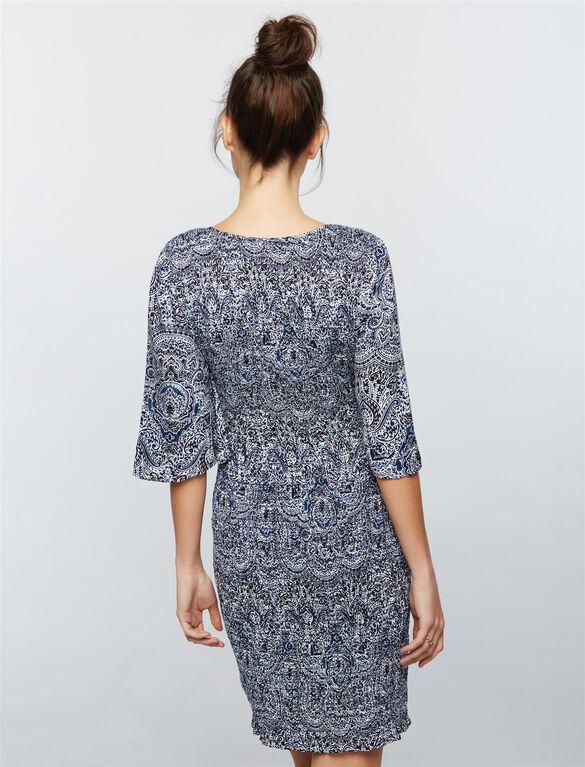 Ella Moss Smocked Maternity Dress, Print