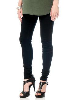 Secret Fit Belly Skinny Leg Maternity Pants, Black