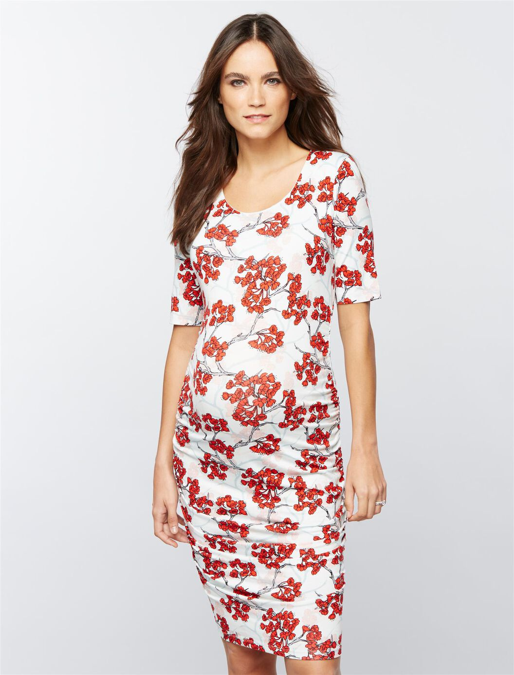 Ruched maternity dress cherry blossom a pea in the pod maternity ruched maternity dress cherry blossom cherry blossom ombrellifo Gallery