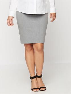 Secret Fit Belly Maternity Skirt, Light Grey