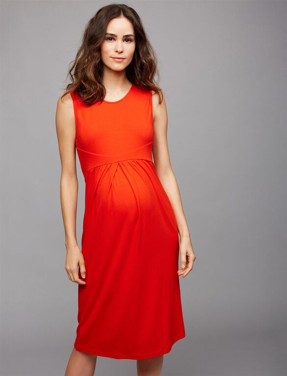 Isabella Oliver Sheath Maternity Dress, Red