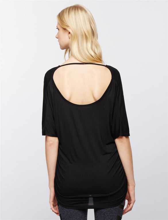 Beyond The Bump Dolman Sleeve Maternity Top, Black