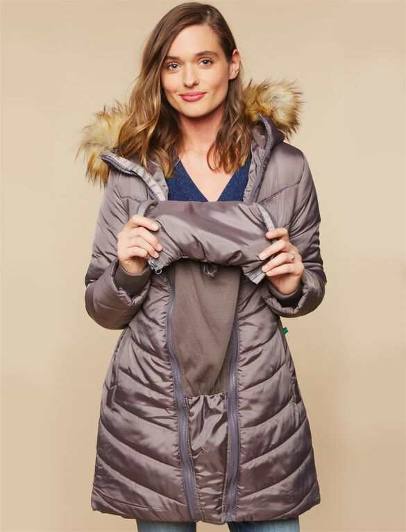 Modern Eternity 3 in 1 Maternity Coat, Grey
