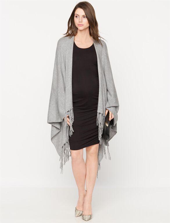 Autumn Cashmere Maternity Cardigan, Nickel