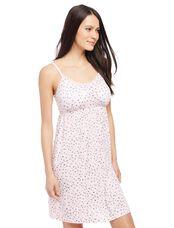Bump in the Night Nursing Nightgown- Heart Print, Heart Print