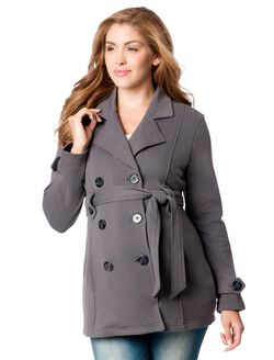 Maternity Peacoat, Charcoal