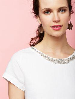 Pietro Brunelli Embellished Maternity Dress, White