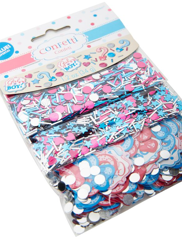 Girl or Boy Gender Reveal Confetti, Pink/Blue