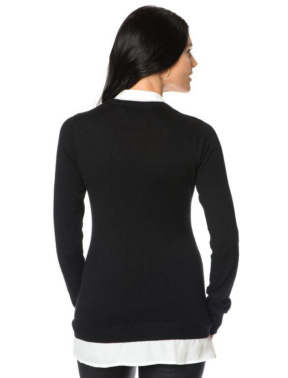 Maternity Sweater, Black/Ivory