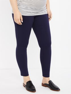 Secret Fit Belly Skinny Ankle Maternity Pants, Navy