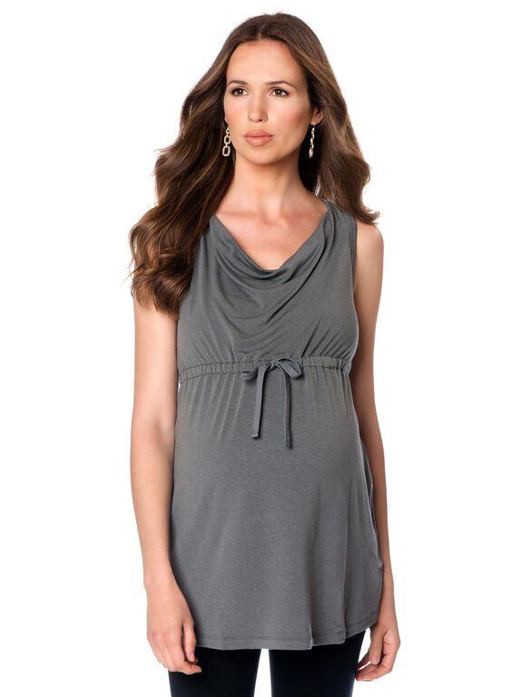 Babydoll Maternity Tunic, Olive