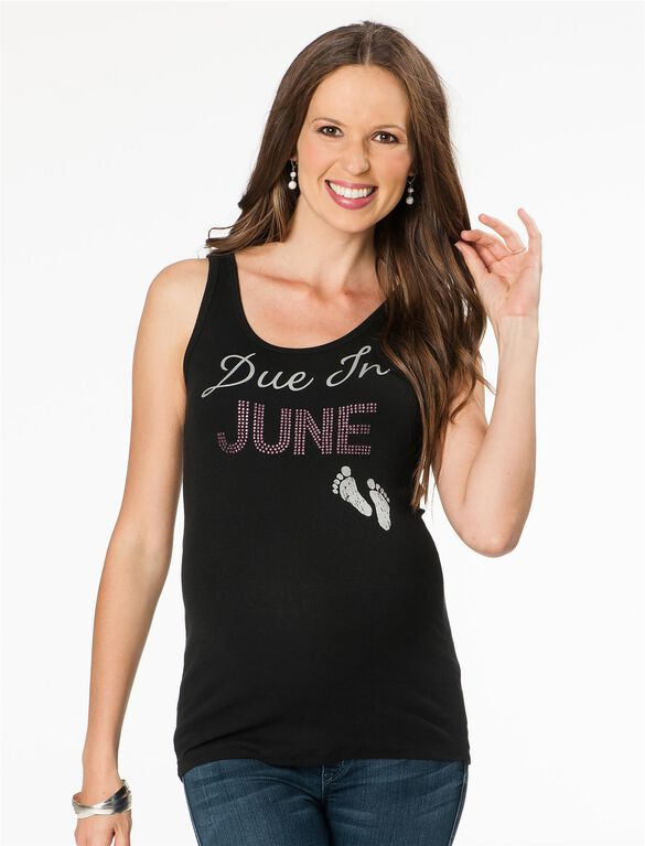 Due In June Maternity Tank Top, 06-june