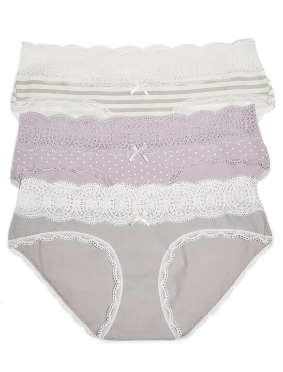 Maternity Hipster Panties (3 Pack), Stripe Multipack