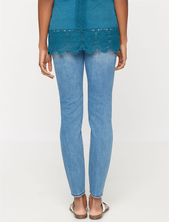 Luxe Essentials Denim Secret Fit Belly Skinny Maternity Jeans, Bright Blue Wash