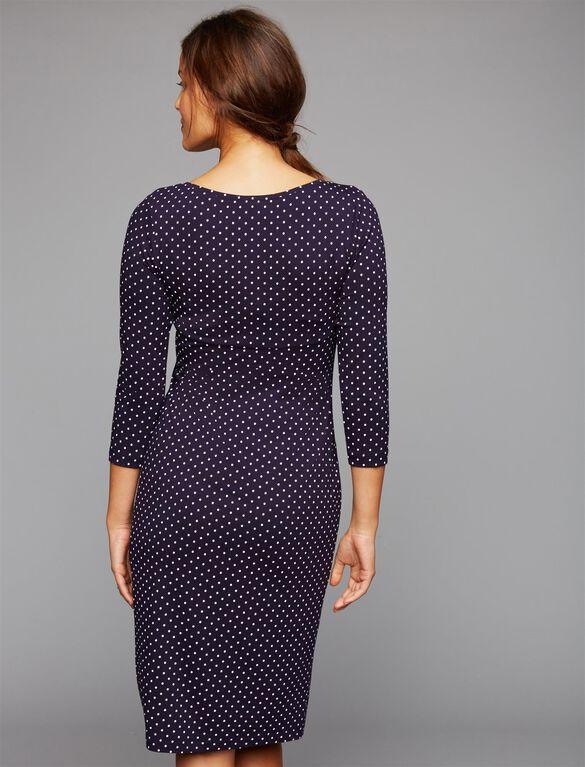 Isabella Oliver Shift Dress Maternity Dress, Polka Dot Print