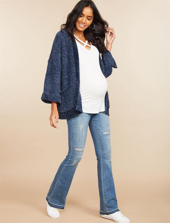 Jessica Simpson Secret Fit Belly Wide Leg Maternity Jeans, Medium Wash