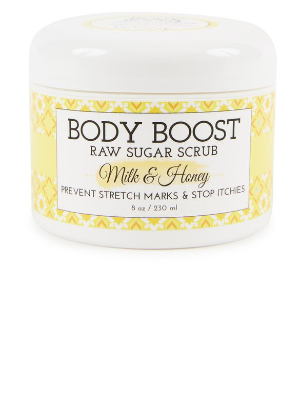 Body Boost by Basq Raw Sugar Scrub- Milk & Honey, Milk/Honey