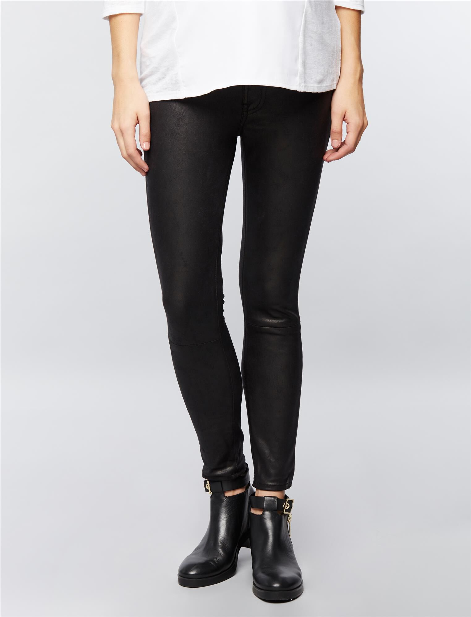 7 For All Mankind Leather Like Maternity Pants