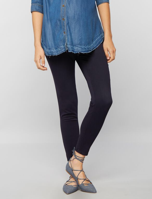 Secret Fit Belly Sateen Skinny Ankle Maternity Pants, Classic Navy