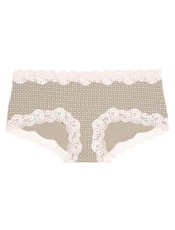 Lace Maternity Girl Short (single), Geo Print