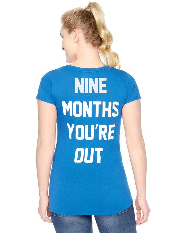 Los Angeles Dodgers MLB Short Sleeve Maternity Tee, Dodgers