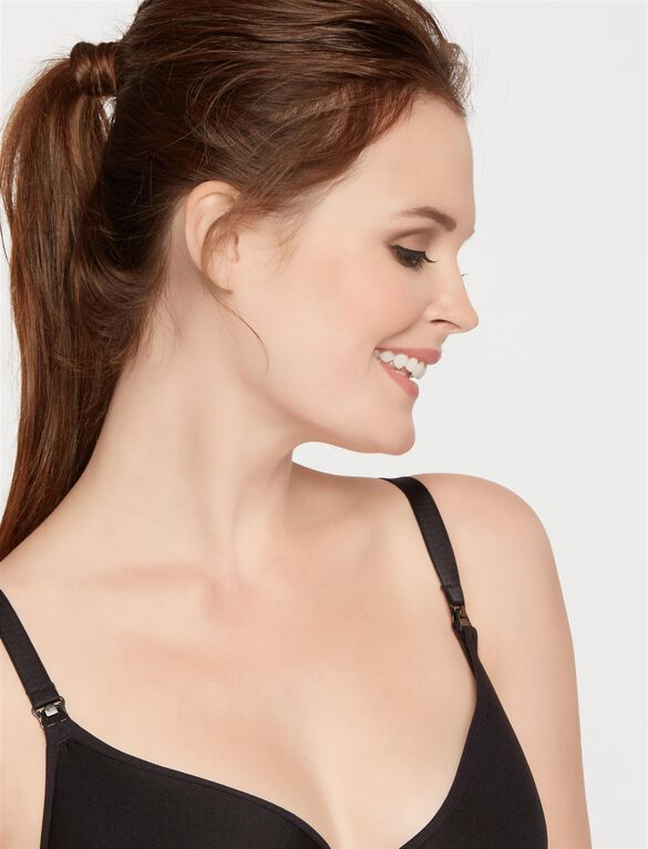 Rosie Pope Full Coverage Nursing Bra, Black