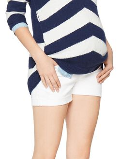 AG Jeans Secret Fit Belly Hailey Cuffed Maternity Shorts, White