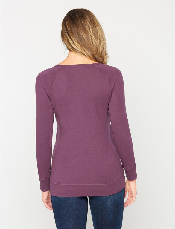 Splendid Maternity Top, Eggplant