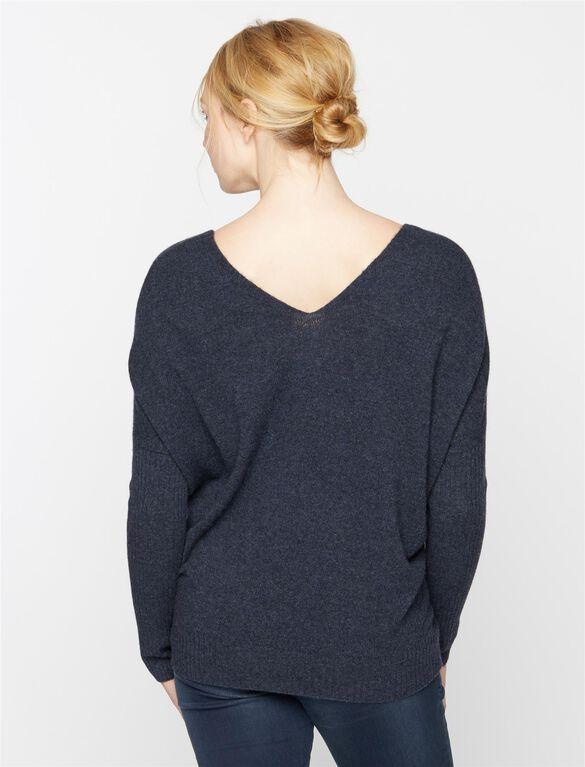 Maternity Sweater, Midnight Blue