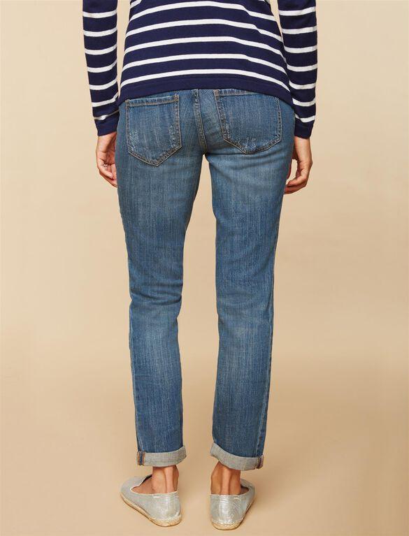 Secret Fit Belly Boyfriend Maternity Jeans, DARK WASH