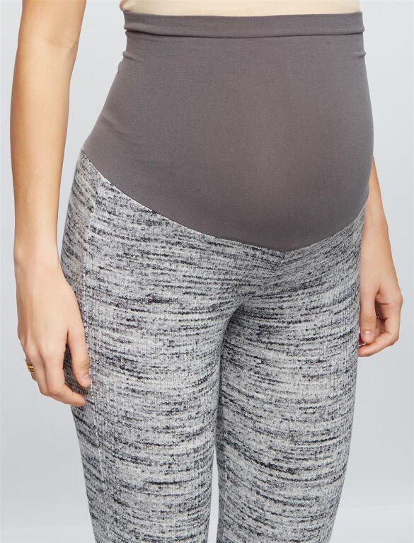 Splendid Secret Fit Belly Rayon Maternity Leggings, Heather Grey