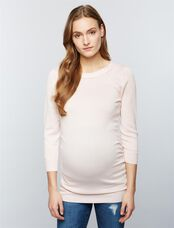 Boat Neck Maternity Sweater, Pink