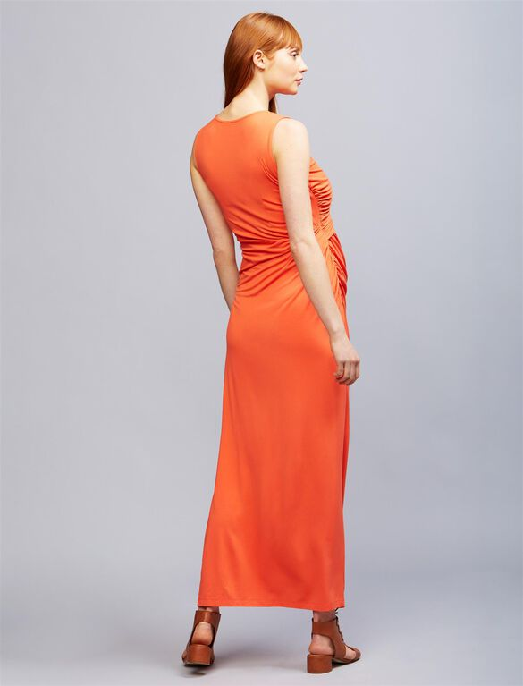 Seraphine Lexington Maternity Maxi Dress, Coral