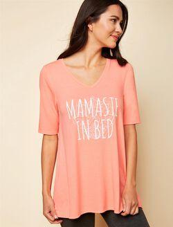 Mamaste In Bed Nursing Sleep Top, Pink