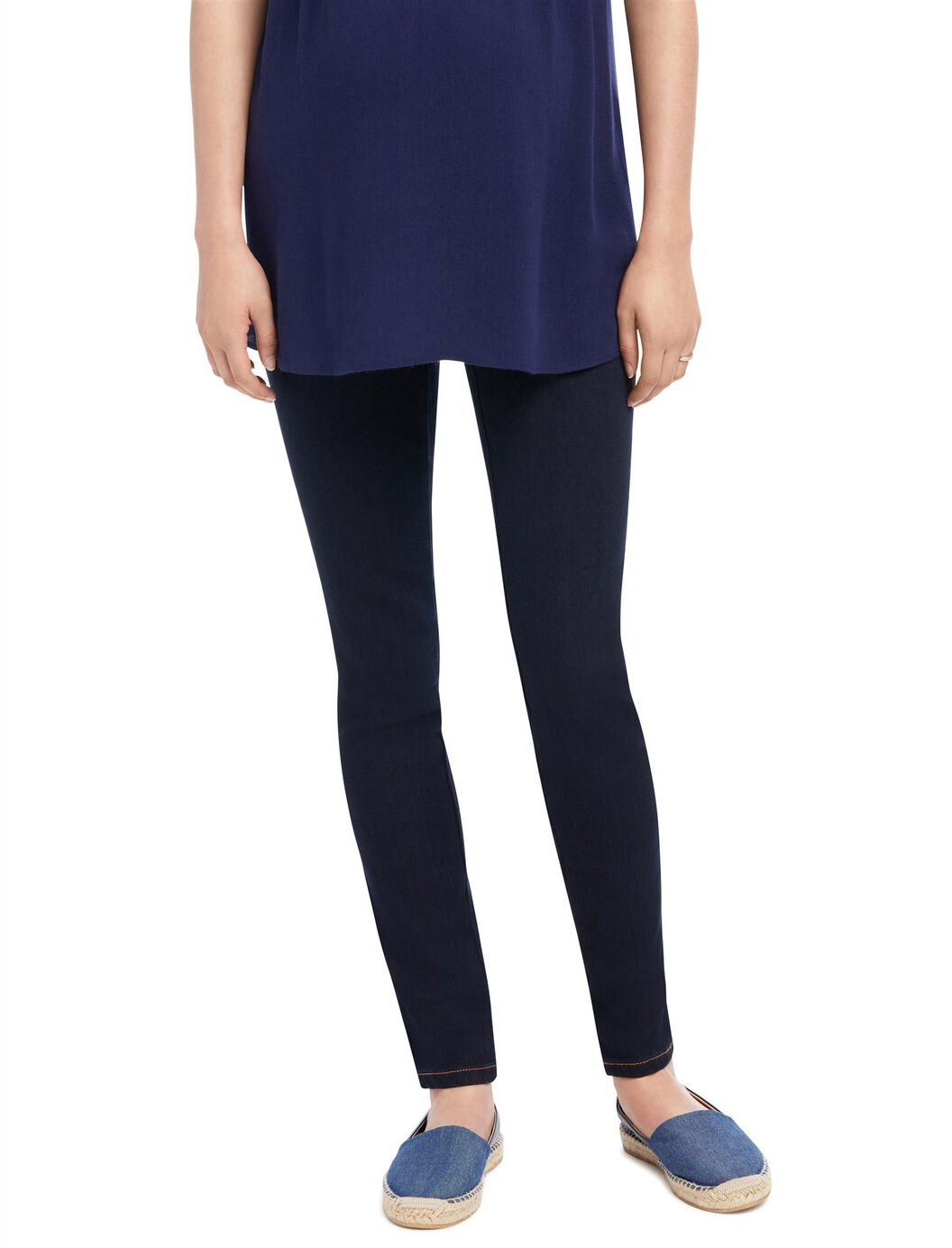 Indigo Blue Petite Skinny Leg Maternity Jeans at Motherhood Maternity in Victor, NY | Tuggl